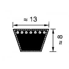 Классический клиновой ремень A/13 ширина ремня: 13 мм, длина: 1016 мм, 1016A40 Sati